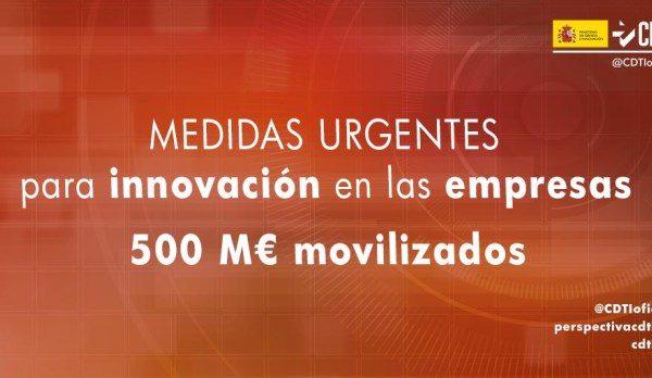 Medidas urgentes para movilizar cerca de 500 M€ para empresas innovadoras