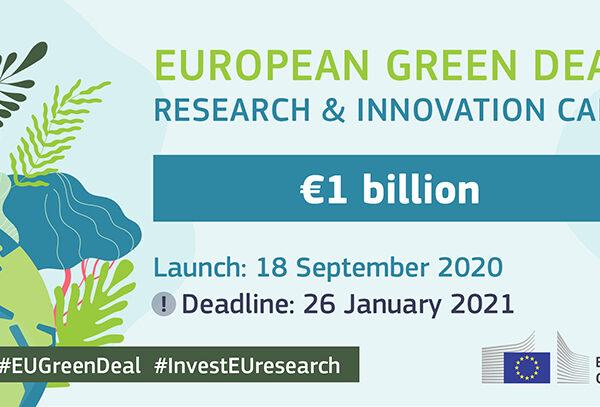 HORIZON 2020 EUROPEAN GREEN DEAL CALL: DEADLINE 26 JANUARY 2021